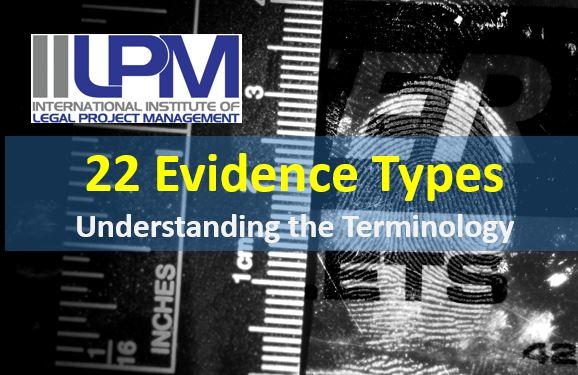 22 Evidence Type Terminology